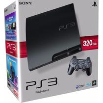 Ps3 Slim 320gb Desbloqueado+2 Controles+1 Guitar Hero+hd 1tb
