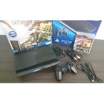 Playstation 3 Ps3 Super Slim 250gb Bundle Seminovo Dualshock