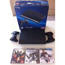 Playstation 3 250gb Super Slim 2 Controles + Hdmi + Jogos