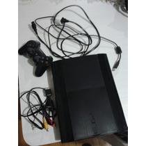 Playstation 3 Super Slim Hd 250 01 Controle Usado