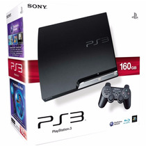 Playstation 3 Slim Destravado Com 1 Controle Semi Novo 160gb