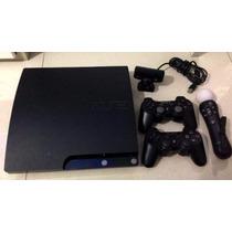 Playstation 3 320gb 2 Controles Kit Move #13 Jogos Originais