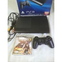 Playstation 3 250 Gb Novíssimo,1 Manete 1 Uncharte3.garantia