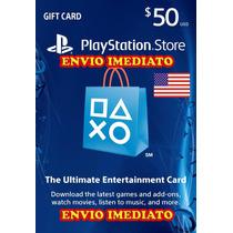 Psn Card Playstation Network Card - $50 Envio Imediato !!!