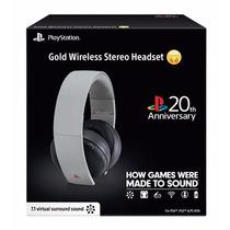 Headset Gold 7.1 Wireless Sony 20th Anniversary Ps4 Ps3 Vita