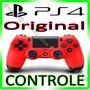 Controle Ps4 Playstation 4 Original Sony Dualshock Vermelho