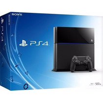 Playstation 4 500gb Bluray Ps4 Sony 3d Com 1 Jogo
