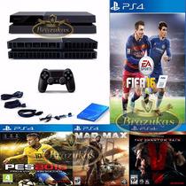 Ps4 Desbloqueado Destravado Playstation 4 Branco + 11 Jogos