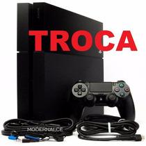 Playstation 4 Hd 500 Gb + 3 Lancamentos Aceito Trocas