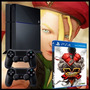 Playstation 4 Ps4 Sony + 2 Controles + Street Fighter V