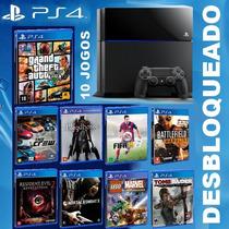 Ps4 Destravado +desbloqueado 25 Jogos - Sony 1.000 Gb 1tb