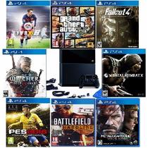Ps4 Desbloqueado Destravado Playstation 4 Hd 1tb + 29 Jogos