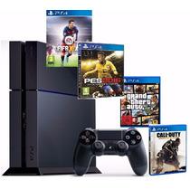 Playstation 4 Ps4 Hd 500 + 1 Jogo - Novo Lacrado Promoção!
