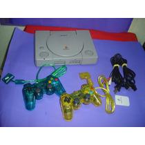 Playstation 1 Fat Spch 9001 , 2 Controles , Mcard E Jogos