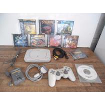 Play Station 1 Sony Com 11 Jogos Bém Conservado