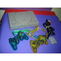 Playstation 1 Fat Spch 7001 , 2 Controles , Mcard E Jogos