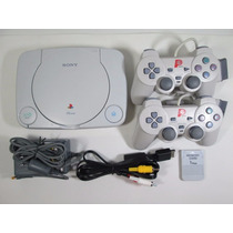 Ps1 Playstation 1 Fat Completo Controles + Memorycard + Cabo