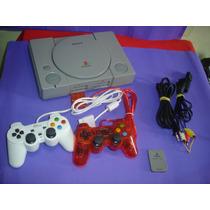 Playstation 1 Fat Spch 5501 , 2 Controles , Mcard E Jogos