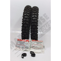 Kit Pneu 110/80-18 + 80/90-21 Rt36 Rinaldi Xl125 Xtz125 Mp58