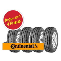 Kit 4 Pneu Aro 14 Continental 185r14 Vanco 8 102/100q 8pr