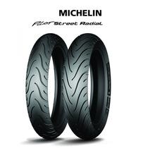 Pneu Traseiro+dianteiro Michelin Pilot Street Twister Fazer