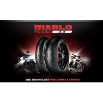 Pneu Pirelli 140 70 17 + 110 70 17 Diablo Rosso I I O Par