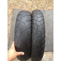 Par De Pneus 110/90/19 E 150/70/17 Bridgestone (riscados)