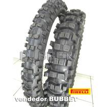 Par Pneus Moto Cross Pirelli 100/100-18 + 80/100-21 Scorpion