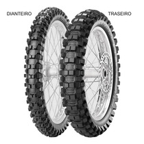 Pneu Traseiro Pirelli 100/90 - 19 57m Tt Scorpion Mx Extra X