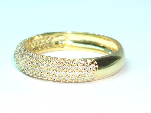 Pocao2005-anel Ouro18k 750 Super Pave Diamantes Frete Gratis