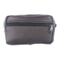 Mini Pochete De Cinto Porta Camera Celular Case 100% Couro H
