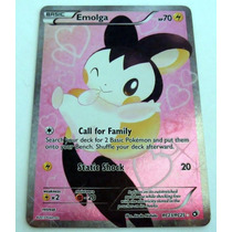 Full Art Holo Emolga Rc23/rc25 Pokemon Legendary Treasures R
