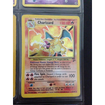 Carta Card Pokemon Charizard Raro Holo 1ª Geração
