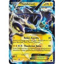 Carta Pokemon Thundurus Ex - Congelamento De Plasma