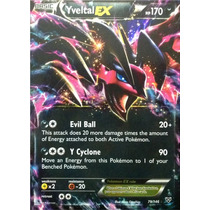 Carta Pokemon Yveltal Ex X Y Inglês