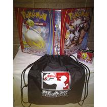 Pasta Fichário Pokemon Xy Aggron + Mochila + Deck Box