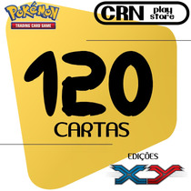 Lote 120 Cartas Pokémon Com 10 Raras - Frete Grátis