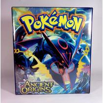 Álbum Tipo Fichário Para Cards Pokémon C/40 Transparências