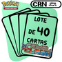 Lote 40 Cartas Pokémon Xy Conflito Primitivo - Frete Grátis