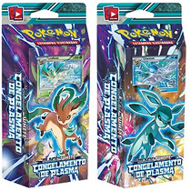 2 Decks Pokémon Bw Congelamento De Plasma Glaceon Leafeon