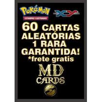 Lote De 60 Cartas Pokemon Com Uma Carta Rara Garantida!