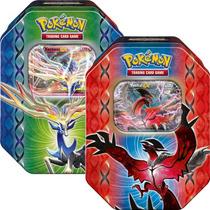 2 Latas Pokémon Lenda De Kalos Xerneas-ex Yveltal-ex