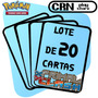 Lote 20 Cartas Pokémon Xy Conflito Primitivo - Frete Grátis