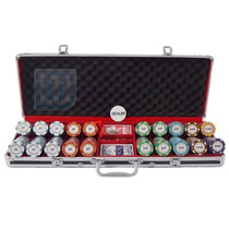 Maleta De Poker 500 Fichas Monte Carlo 14 Gm Clay 10 Cores