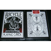 Baralhos Bycicle - Black Tiger | Aracne Black | Blue Ice