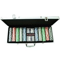 Mala De Poker 500 Fichas 11,5g Dealer Baralho Dados Toalha