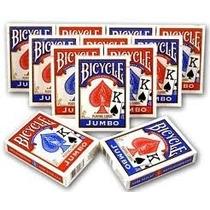 Baralho Bicycle Jumbo Vermelho Ou Azul Naipe Grande Poker