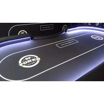 Mesa De Poker_borda Alta_c/led_impressão Digital_c/dealer