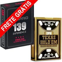 Kit Baralho Copag 139 Experience Poker Size + Texas Holdem