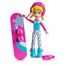 Boneca Polly Pocket Snowboard C/ Acessórios Original Mattel